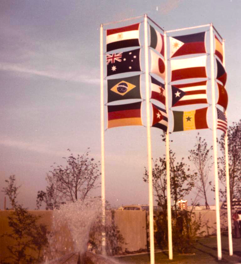 Olympic Flags, Germany 1972