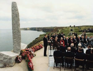 Ronald Reagan's 1984 speech on the cliffs at Normandy