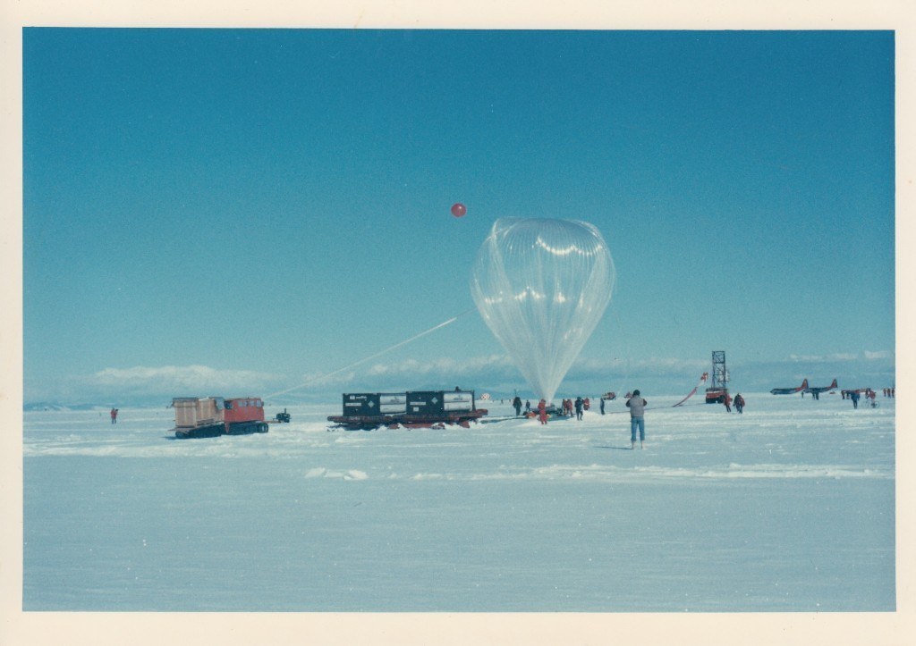 Preparing to launch from McMurdo Sound