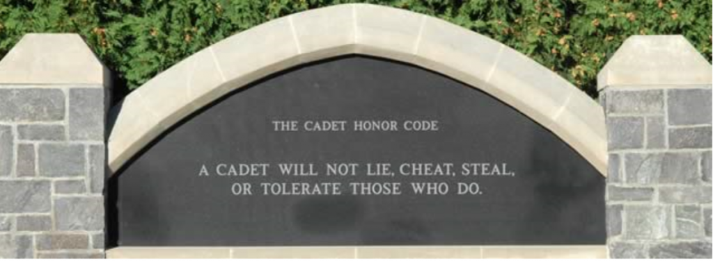 West Point Honor Code of Cadets