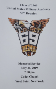 Memorial Service Program West Point 2019
